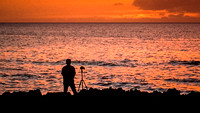 Kathy's Photo of  me Photographing the sunset.